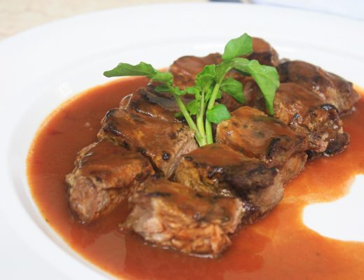 Filet Mignon with Cognac & Red wine Sauce