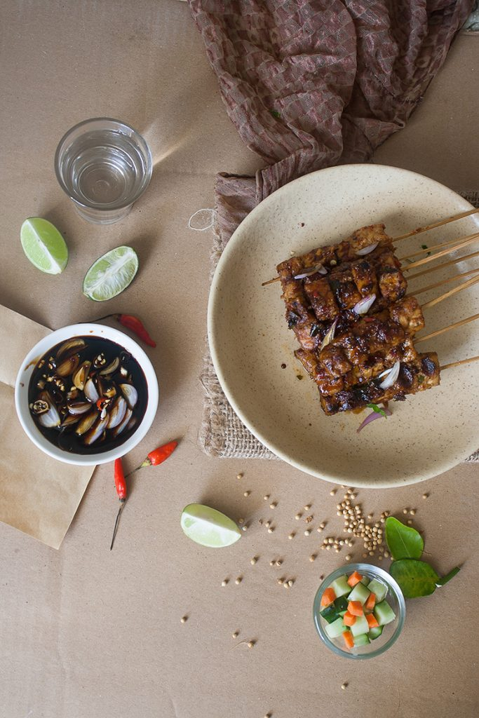 Sate Tempe-Grilled Skewered Tempeh