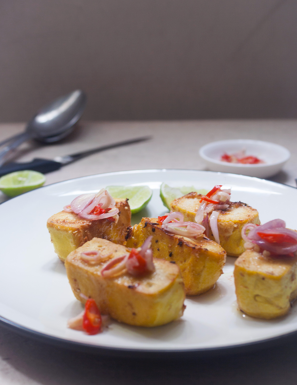 Grilled Tofu with Sambal Matah