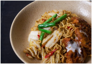 Indian Butter Chicken Fried Noodles