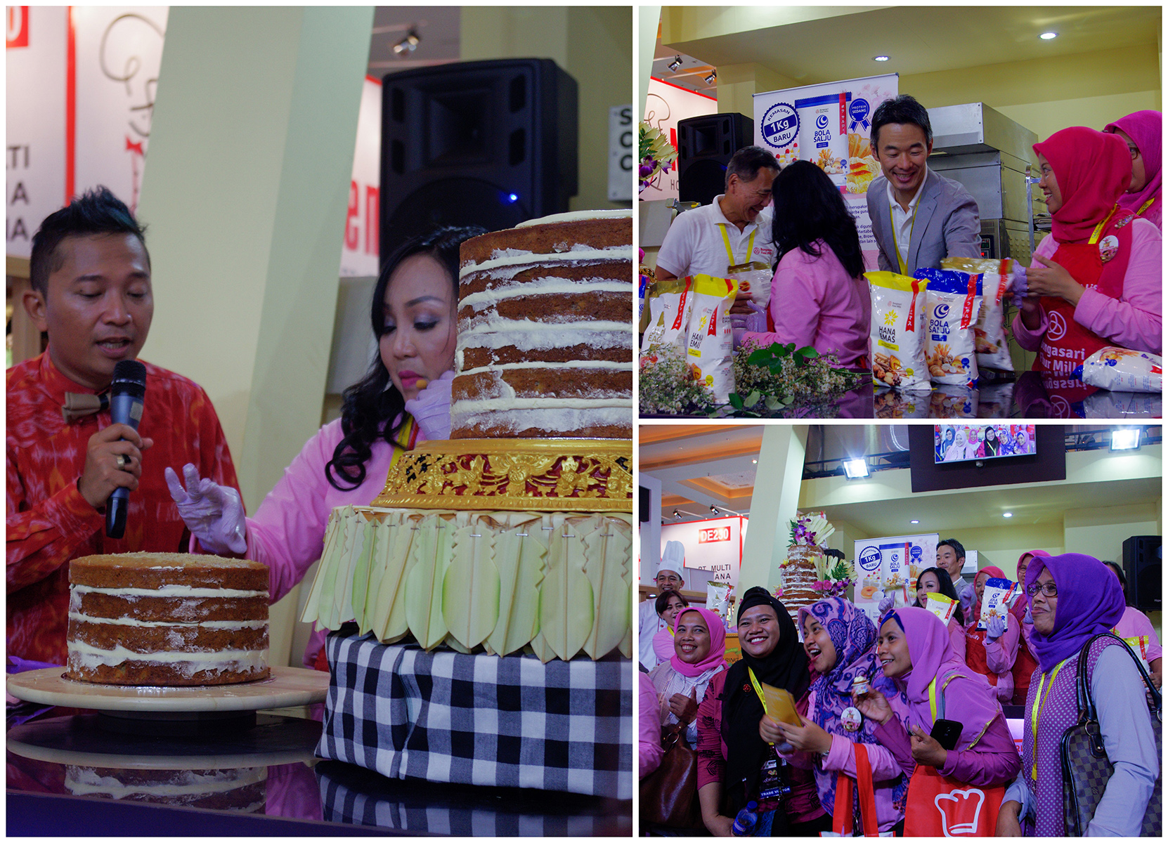 Naked Wedding Cake Demo with Bungasari at SIAL Interfood