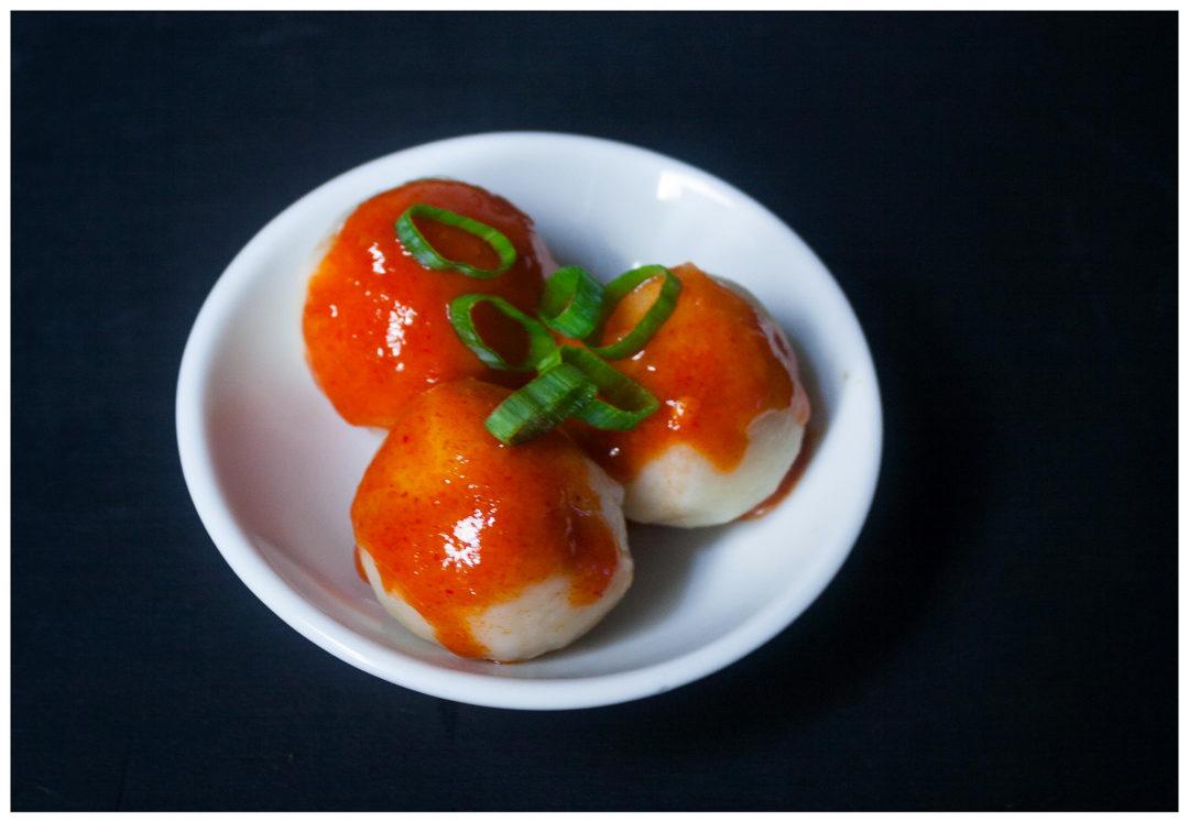 Tapioca Balls with Tteobokki Sauce