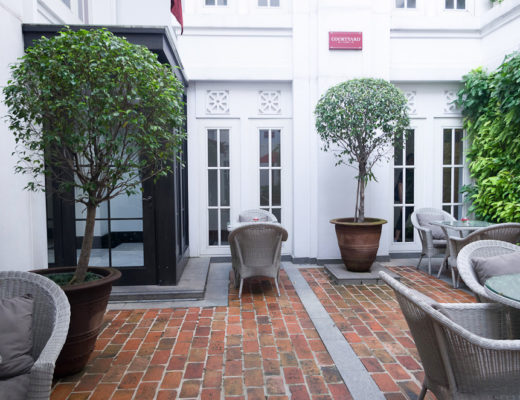 Afternoon tea in Courtyard Cafe at The Hermitage