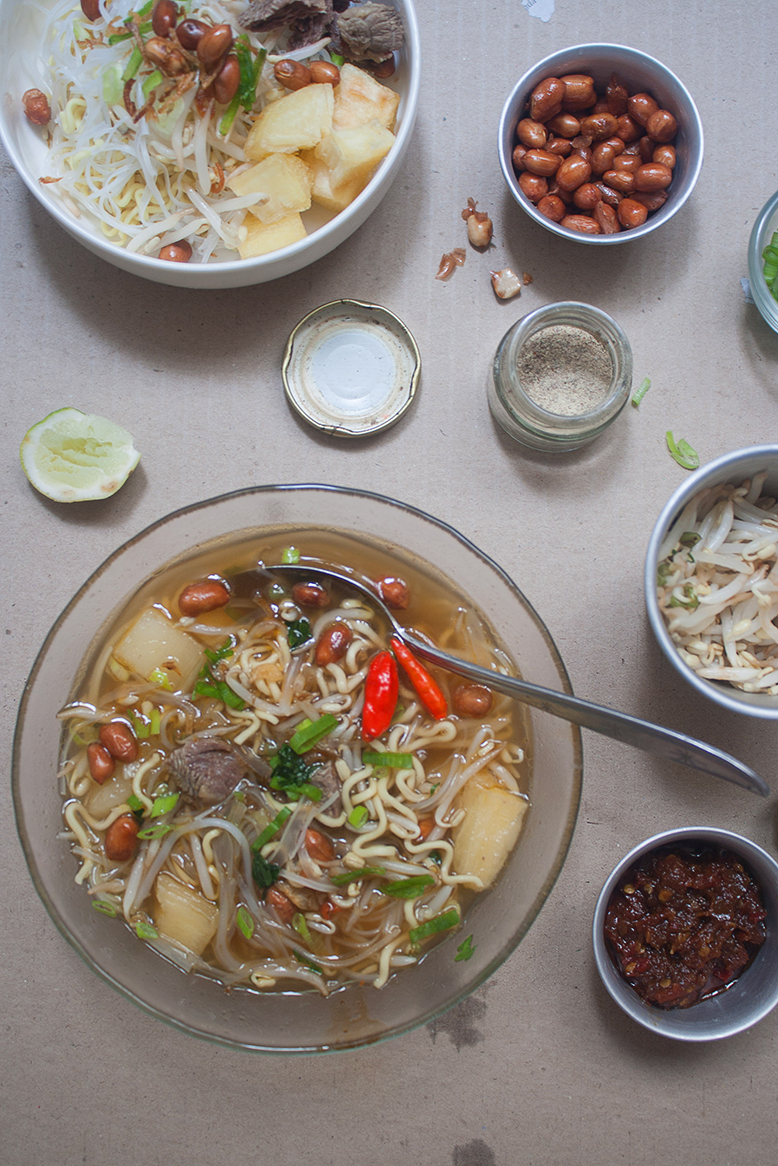 Indonesian cassava soup