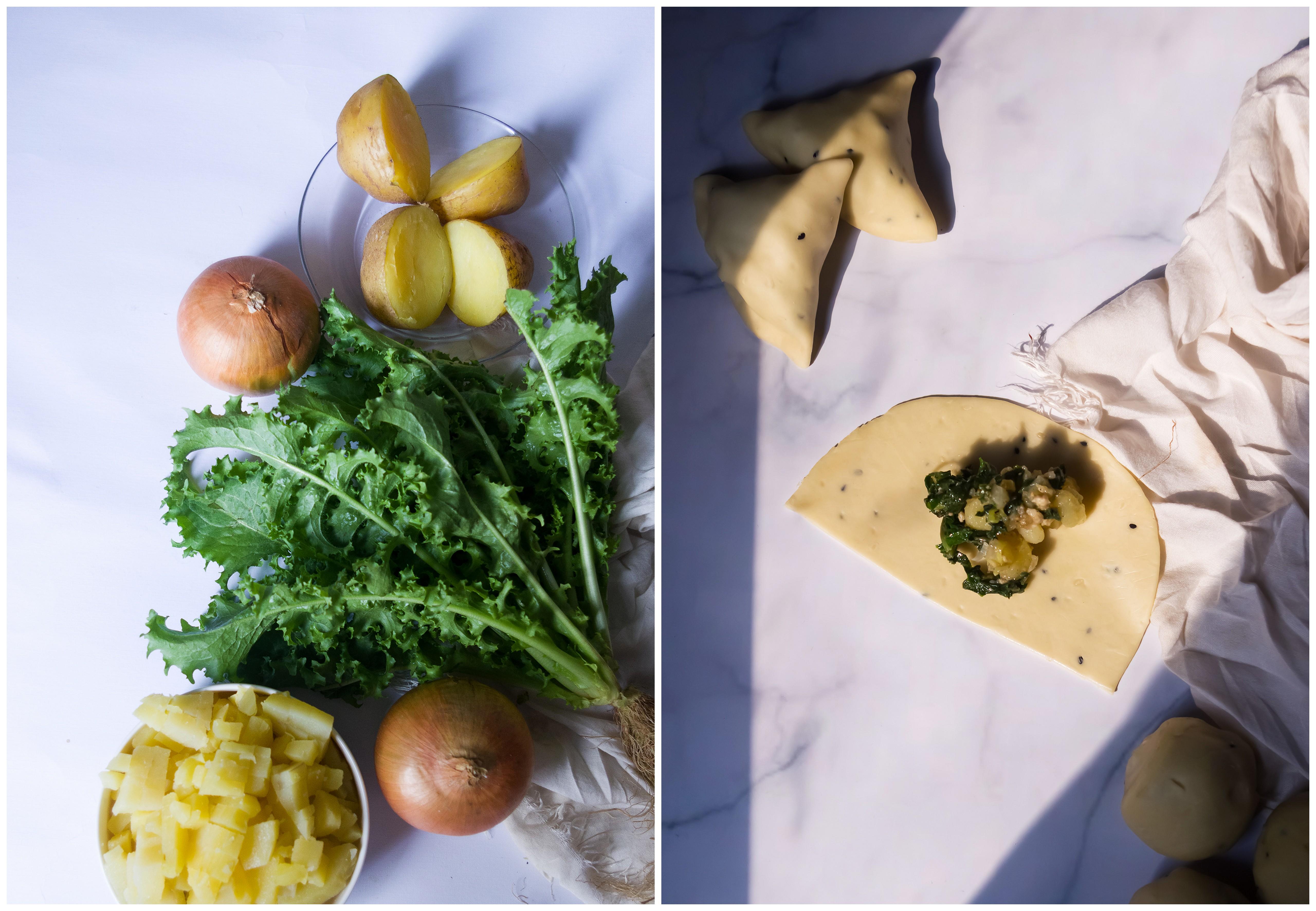 Potato and Curly Endive Samosa