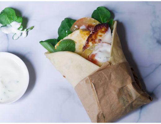 Arugula and Buffalo Cheese Wrap