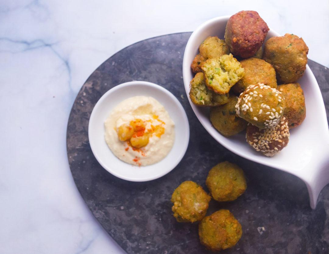 Easy Herb Sesame Falafel Recipe