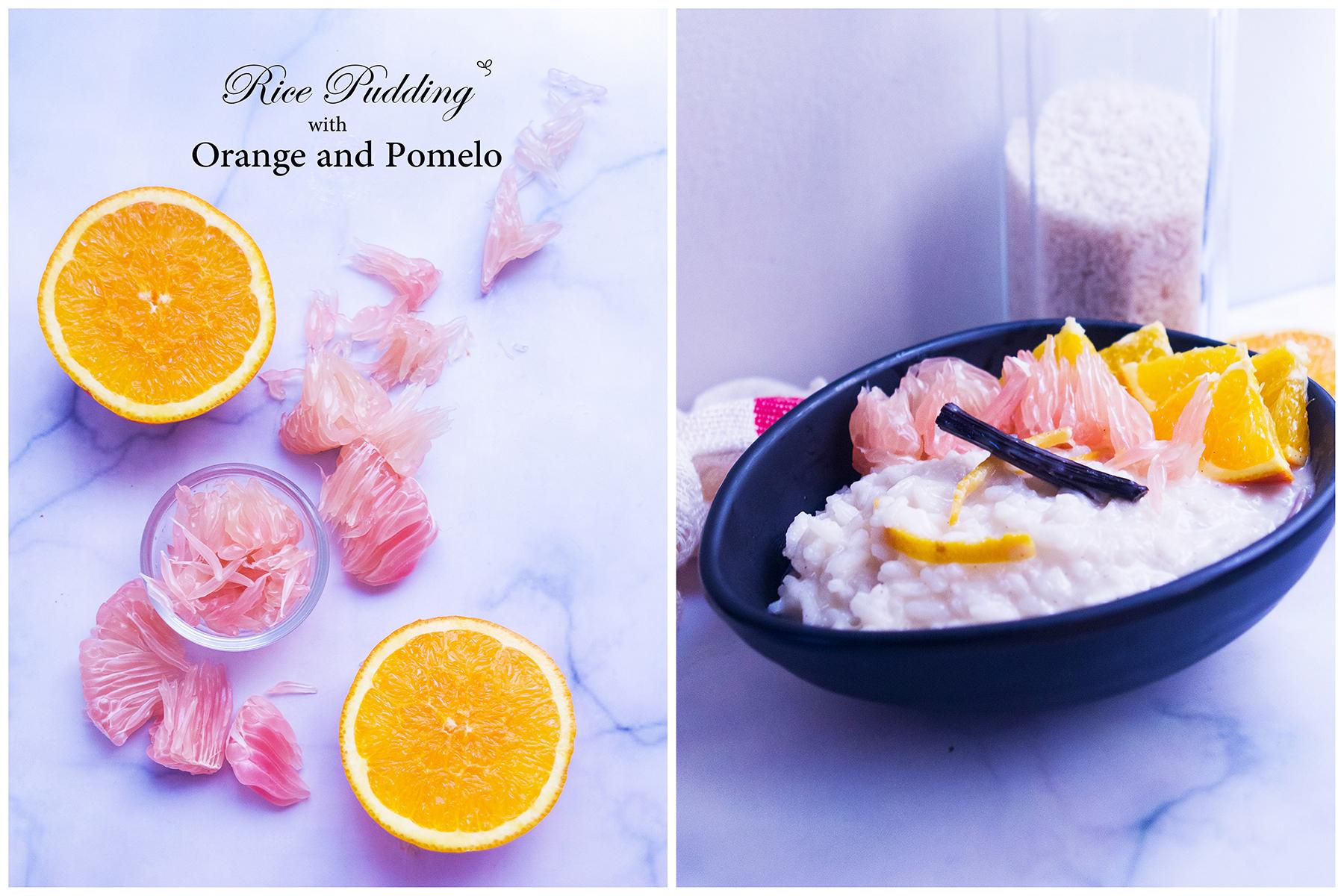 Orange-Pomelo Rice Pudding