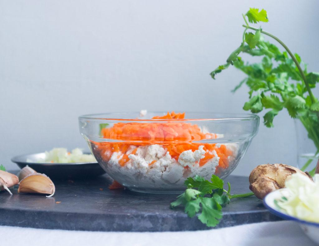 Tofu and Vegetable Momo