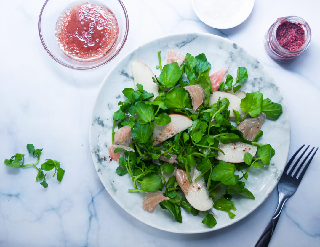 Apple & Watercress Salad with Fruity Vinaigrette