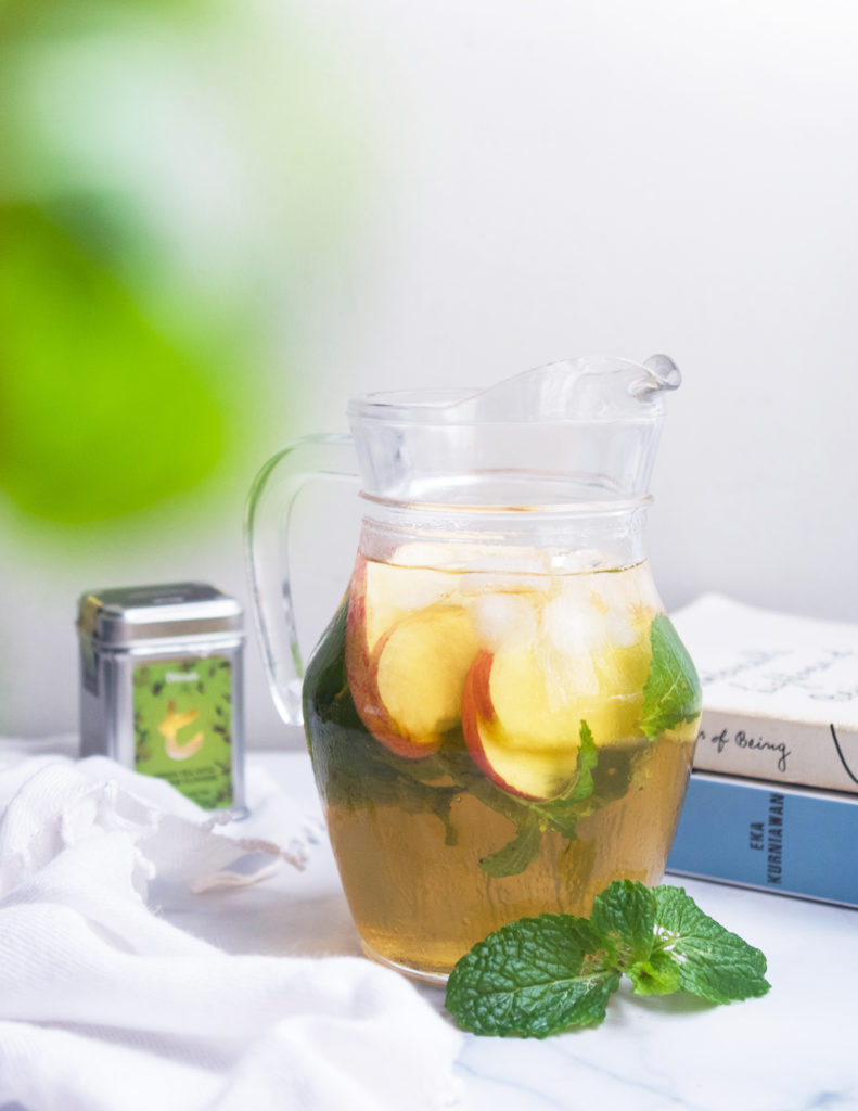 Apple and Mint Iced Green Tea