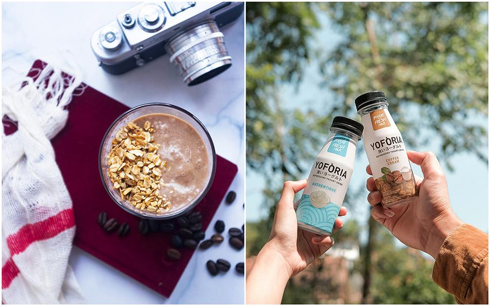 Fresh Yogurt Breakfast Smoothies with Live Probiotics