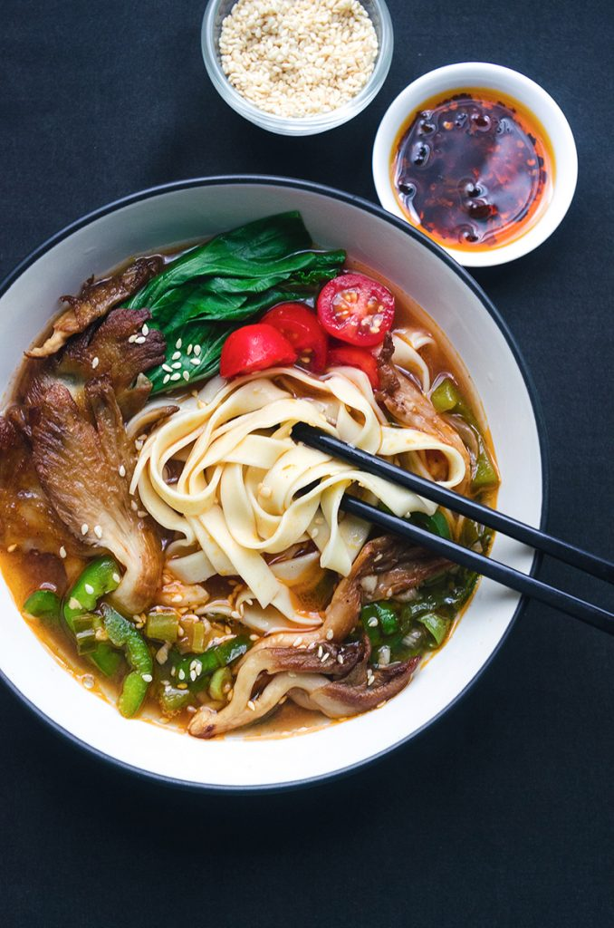 Spicy Mushroom Noodle Soup