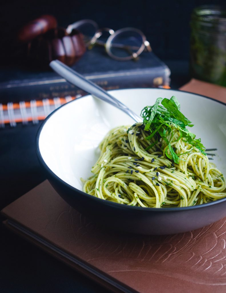 Shiso Pistou with Pasta