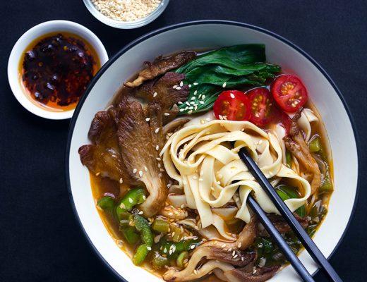 Spicy Mushroom Noodle Soup