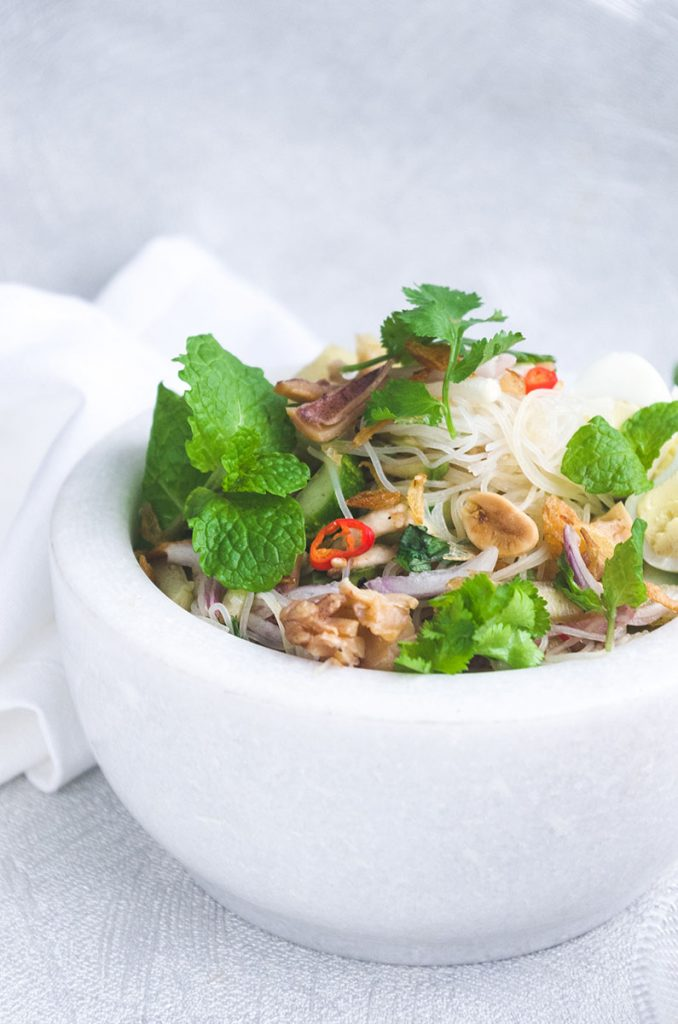 Rice Vermicelli and Dried Squid Salad